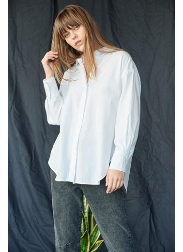 Levure Boyfriend Gömlek Beyaz